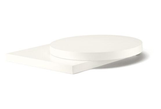 Bordsskiva vit blank laminat 70*60*4 cm